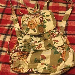 Handbags - Floral canvas backpack size medium